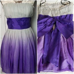 Betsey Johnson Purple Ombre Evening Dress